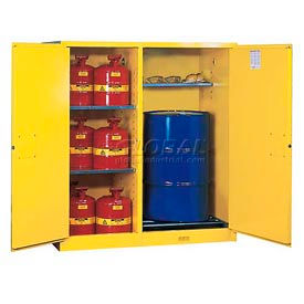 Flammable Cabinet and Drum Storage with Self Close Doors