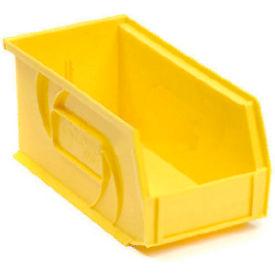 """LEWISBins Plastic Stacking Bin PB1405-5 - 5 -1/2""""W x 14-3/4""""D x 5""""H, Yellow - Pkg Qty 12"""