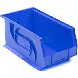 """LEWISBins Plastic Stacking Bin PB1808-9 - 8 1/4""""W x 18""""D x 9""""H, Blue - Pkg Qty 6"""