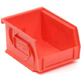 """LEWISBins Plastic Stacking Bin PB1811-10 - 11""""W x 18""""D x 10""""H, Red - Pkg Qty 4"""