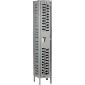 Hallowell U1588-1HDV-HG Heavy-Duty Ventilated Locker Single Tier 15x18x72 1 Door Unassembled