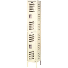 Hallowell U1258-2HV-A-PT Heavy-Duty Ventilated Locker Double Tier 12x15x36  2 Door Assembled