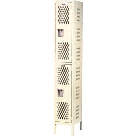 Hallowell U1288-2HV-A-PT Heavy-Duty Ventilated Locker Double Tier 12x18x36  2 Door Assembled