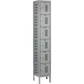 Hallowell U1288-6HV-A-HG Heavy-Duty Ventilated Locker Six Tier 12x18x12 6 Door Assembled