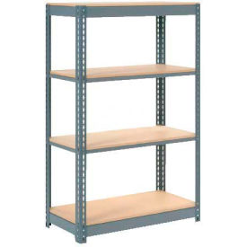 "Heavy Duty Shelving 48""W x 12""D x 72""H With 4 Shelves, Wood Deck"
