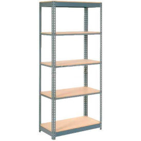 "Heavy Duty Shelving 36""W x 12""D x 72""H With 5 Shelves, Wood Deck"