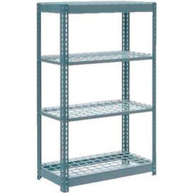 """Heavy Duty Shelving 36""""W x 18""""D x 72""""H With 4 Shelves, Wire Deck"""