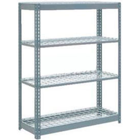 """Heavy Duty Shelving 48""""W x 18""""D x 72""""H With 4 Shelves, Wire Deck"""