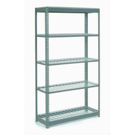 """Heavy Duty Shelving 48""""W x 24""""D x 72""""H With 5 Shelves, Wire Deck"""