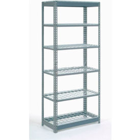 """Heavy Duty Shelving 48""""W x 24""""D x 72""""H With 6 Shelves, Wire Deck"""