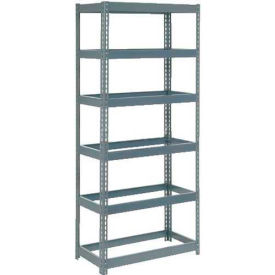 """Extra Heavy Duty Shelving 48""""W x 12""""D x 72""""H With 6 Shelves, No Deck"""
