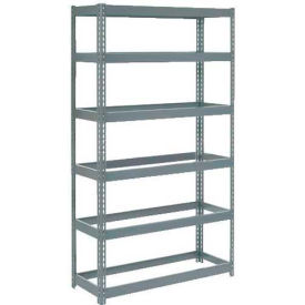 """Extra Heavy Duty Shelving 48""""W x 24""""D x 72""""H With 6 Shelves, No Deck"""