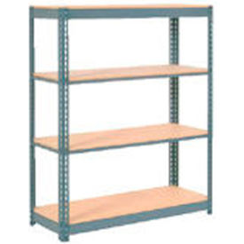 """Extra Heavy Duty Shelving 48""""W x 12""""D x 72""""H With 4 Shelves, Wood Deck"""