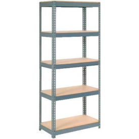 shelving boltless shelving extra heavy duty shelving 36 w x 12 d x 72 h with 5 shelves wood. Black Bedroom Furniture Sets. Home Design Ideas
