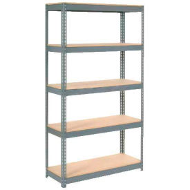 """Extra Heavy Duty Shelving 48""""W x 12""""D x 72""""H With 5 Shelves, Wood Deck"""