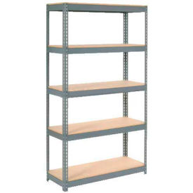 """Extra Heavy Duty Shelving 48""""W x 18""""D x 72""""H With 5 Shelves, Wood Deck"""