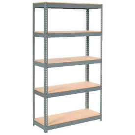 """Extra Heavy Duty Shelving 48""""W x 24""""D x 72""""H With 5 Shelves, Wood Deck"""