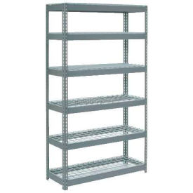 "Extra Heavy Duty Shelving 48""W x 12""D x 72""H With 6 Shelves, Wire Deck"