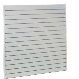 "Steel Slatwall Panel 96""H X 48""W Gray - Pkg Qty 4"