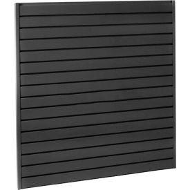 """Steel Slatwall Panel 48""""H X 96""""W Black - Pkg Qty 4"""