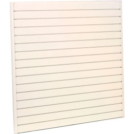 "Steel Slatwall Panel 48""H X 96""W White - Pkg Qty 4"