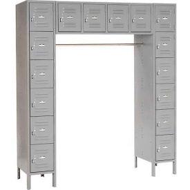 Infinity™ 16 Person Locker 12 X 18 X 12 Assembled Gray