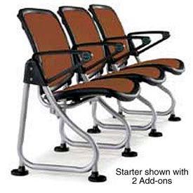 Modular Reception Seating Row Starter Seat Brown