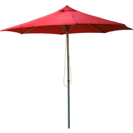 Leisure Craft 8-1/2' Outdoor Umbrella Red