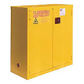 """Global™ Flammable Cabinet - 28 Gallon - Self Close Double Door - 34""""W x 18""""D x 44""""H"""