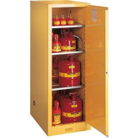 "Justrite 54 Gallon 1 Door, Manual, Slimline, Flammable Cabinet, 23-1/4""W x 34""D x 65""H, Yellow"