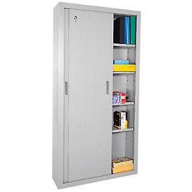 Sandusky Elite Series Sliding Door Storage Cabinets Ba4S361872 - 36X18X72, Gray