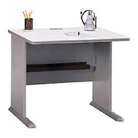 """Bush Furniture Wood Office Desk - 36"""" - Pewter"""