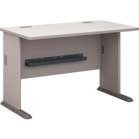 "Bush Furniture Wood Office Desk - 48"" - Pewter"