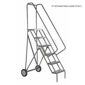 4 Step Steel Roll and Fold Rolling Ladder - Grip Strut Tread - KDRF104162