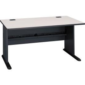 """Bush Furniture 60"""" Desk - Gray - Series A"""
