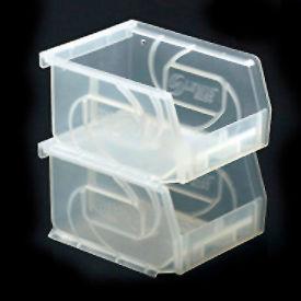 """LEWISBins Plastic Stacking Bin PB54-3CLEAR - 4-1/8""""W x 5-3/8""""D x 3""""H, Clear - Pkg Qty 24"""