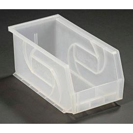 """LEWISBins Plastic Stacking Bin PB105-5CLEAR - 5-1/2""""W x 10-7/8""""D x 5""""H, Clear - Pkg Qty 12"""