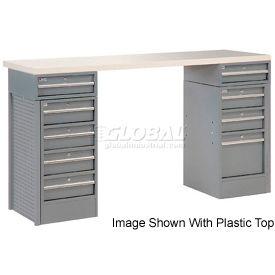 "72"" 9 Drawer Maple Top Workbench"