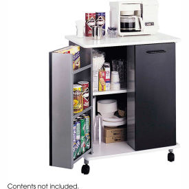 Safco Steel Mobile Refreshment Center, Black - 8963BL