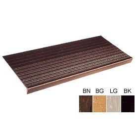 """Vinyl Tread Rib Pattern 72""""W Brown - Pkg Qty 4"""