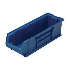 Quantum Hulk Plastic Stacking Bin QUS970BL 8-1/4 x 29-7/8 x 7 Blue - Pkg Qty 6