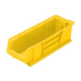 Quantum Hulk Plastic Stacking Bin QUS970YL 8-1/4 x 29-7/8 x 7 Yellow - Pkg Qty 6