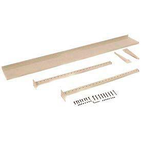 """72""""W Upright Kit with 12""""D Shelf, 48""""H - Tan"""