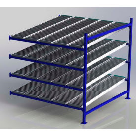 """UNEX FC99SR72724-A Flow Cell Heavy Duty Gravity Rack Add-On 72""""W x 72""""D x 72""""H with 4 Levels"""