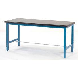 "72""W x 30""D Production Workbench - Phenolic Resin Safety Edge - Blue"