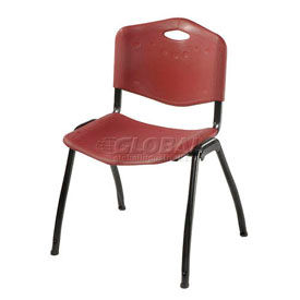 Oakmont Plastic Stackable Chair - Burgundy