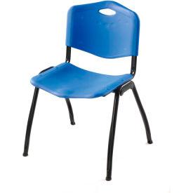 Oakmont Plastic Stackable Chair - Blue - Pkg Qty 4