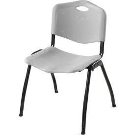 Oakmont Plastic Stackable Chair - Gray - Pkg Qty 4