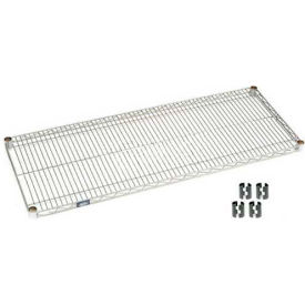 Nexelate Silver Epoxy Wire Shelf 36 x 18 with Clips
