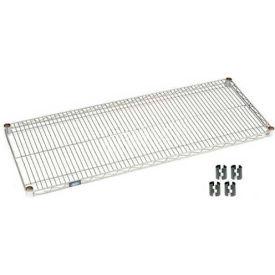 """Nexel S1836EP Silver Epoxy Wire Shelf 36""""W x 18""""D with Clips"""